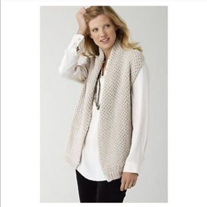 J. Jill Alpaca Wool Chunky Cable Knit Vest Sweater